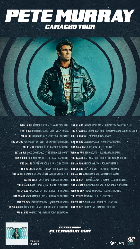 Pete Murray CAMACHO TOUR POSTER