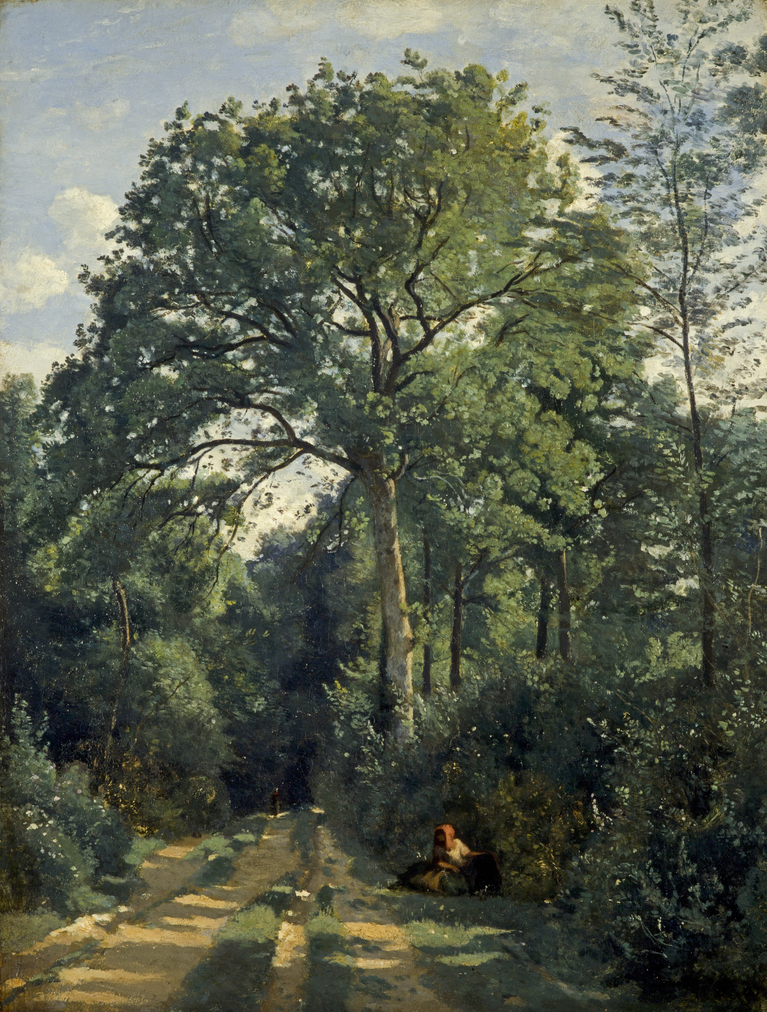 Camille Corot Ville-d'Avray: entrance to the wood c1825 oil on canvas 46 x 35 cm Scottish National Gallery, Edinburgh © Trustees of the National Galleries of Scotland ***This image may only be used in conjunction with editorial coverage of The Greats exhibition, 24 Oct 2015 - 14 Feb 2016, at the Art Gallery of New South Wales. This image may not be cropped or overwritten. Prior approval in writing required for use as a cover. Caption details must accompany reproduction of the image. *** Media contact: Lisa.Catt@ag.nsw.gov.au *** Local Caption *** ***This image may only be used in conjunction with editorial coverage of The Greats exhibition, 24 Oct 2015 - 14 Feb 2016, at the Art Gallery of New South Wales. This image may not be cropped or overwritten. Prior approval in writing required for use as a cover. Caption details must accompany reproduction of the image. *** Media contact: Lisa.Catt@ag.nsw.gov.au