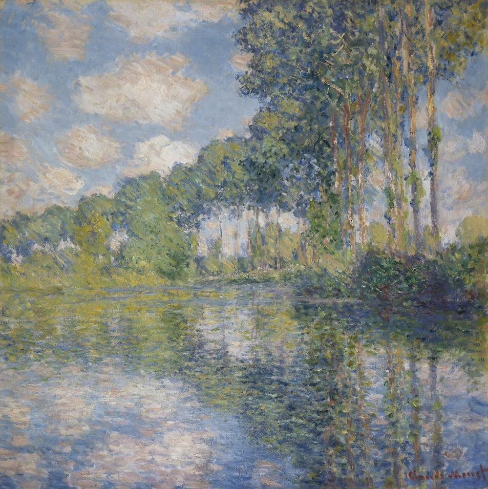 Claude Monet Poplars on the river Epte 1891 oil on canvas 81.8 x 81.3 cm Scottish National Gallery, Edinburgh © Trustees of the National Galleries of Scotland ***This image may only be used in conjunction with editorial coverage of The Greats exhibition, 24 Oct 2015 - 14 Feb 2016, at the Art Gallery of New South Wales. This image may not be cropped or overwritten. Prior approval in writing required for use as a cover. Caption details must accompany reproduction of the image. *** Media contact: Lisa.Catt@ag.nsw.gov.au