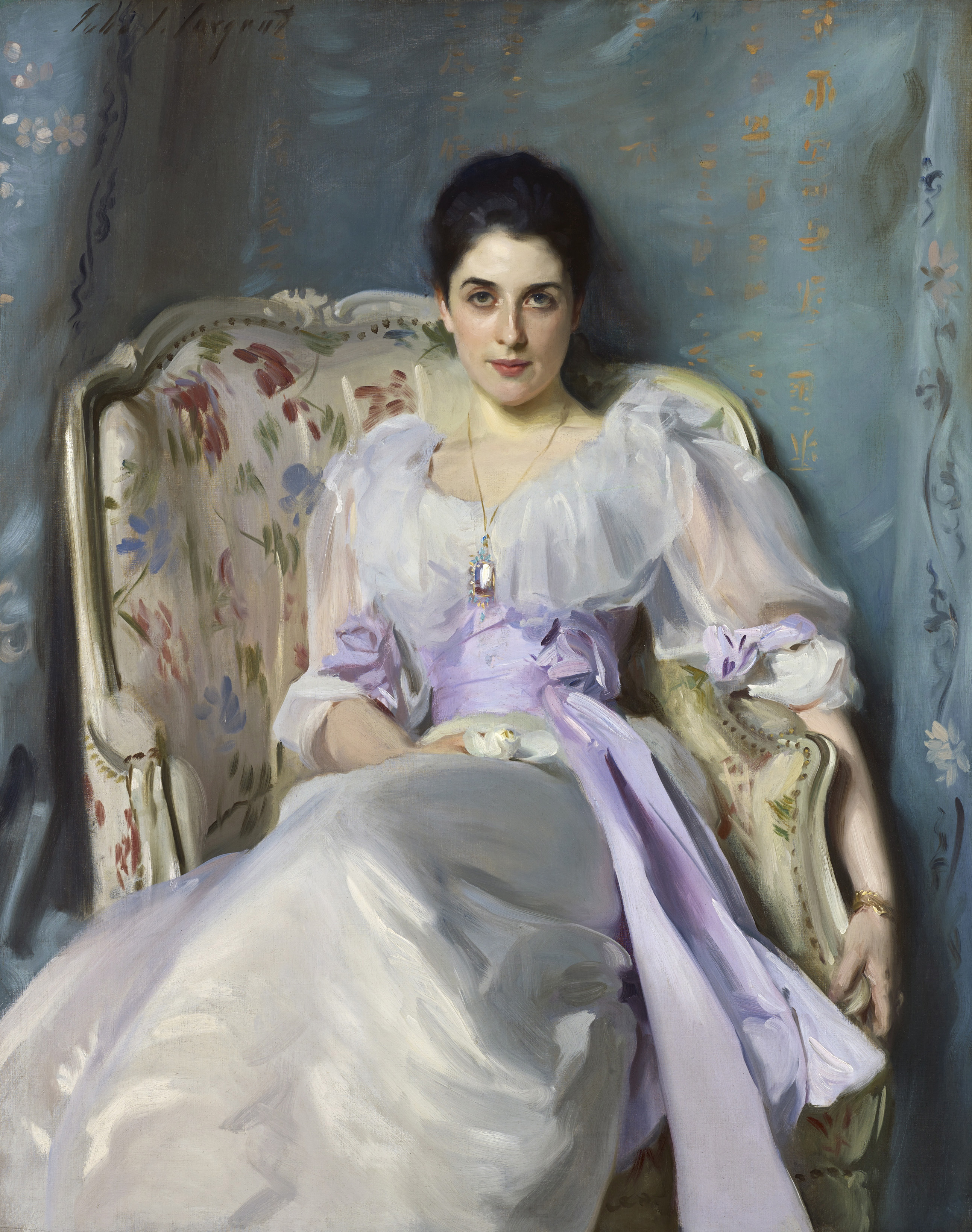John Singer Sargent Lady Agnew of Lochnaw 1892 oil on canvas 125.7 x 100.3 cm Scottish National Gallery, Edinburgh © Trustees of the National Galleries of Scotland ***This image may only be used in conjunction with editorial coverage of The Greats exhibition, 24 Oct 2015 - 14 Feb 2016, at the Art Gallery of New South Wales. This image may not be cropped or overwritten. Prior approval in writing required for use as a cover. Caption details must accompany reproduction of the image. *** Media contact: Lisa.Catt@ag.nsw.gov.au *** Local Caption *** ***This image may only be used in conjunction with editorial coverage of The Greats exhibition, 24 Oct 2015 - 14 Feb 2016, at the Art Gallery of New South Wales. This image may not be cropped or overwritten. Prior approval in writing required for use as a cover. Caption details must accompany reproduction of the image. *** Media contact: Lisa.Catt@ag.nsw.gov.au