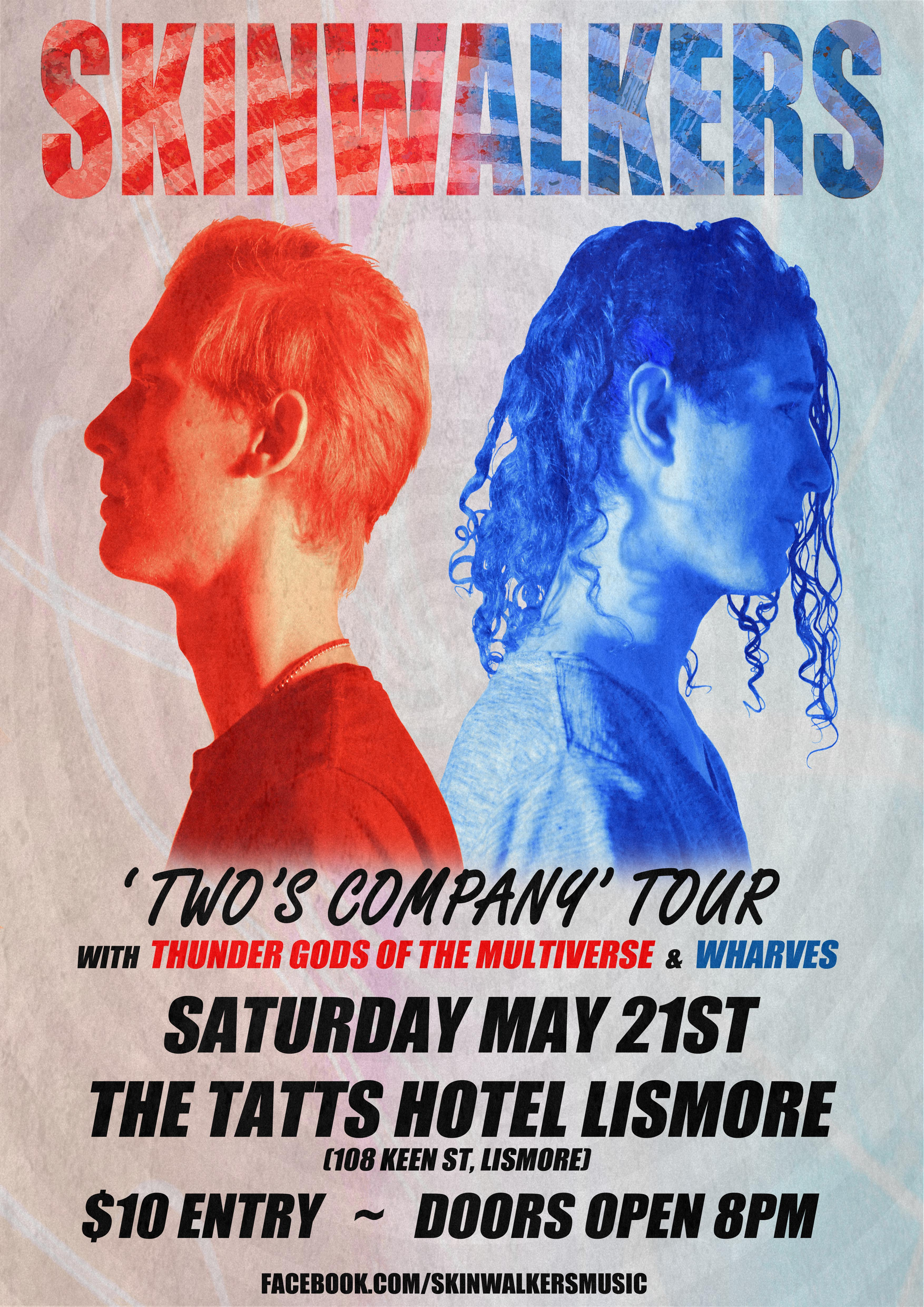 SW Two's Company Tour Lismore Poster